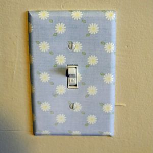 pretty light switch plate