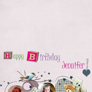 Jennifer 1st Birthday card