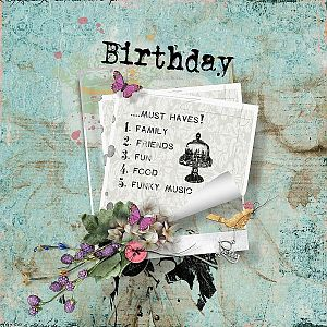 Birthday....must haves!