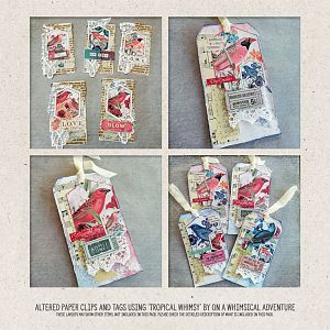Altered Paper Clips and Gift Tags by Marisa