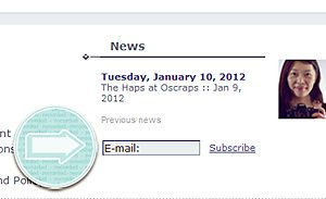 subscribe to the Haps at Oscraps