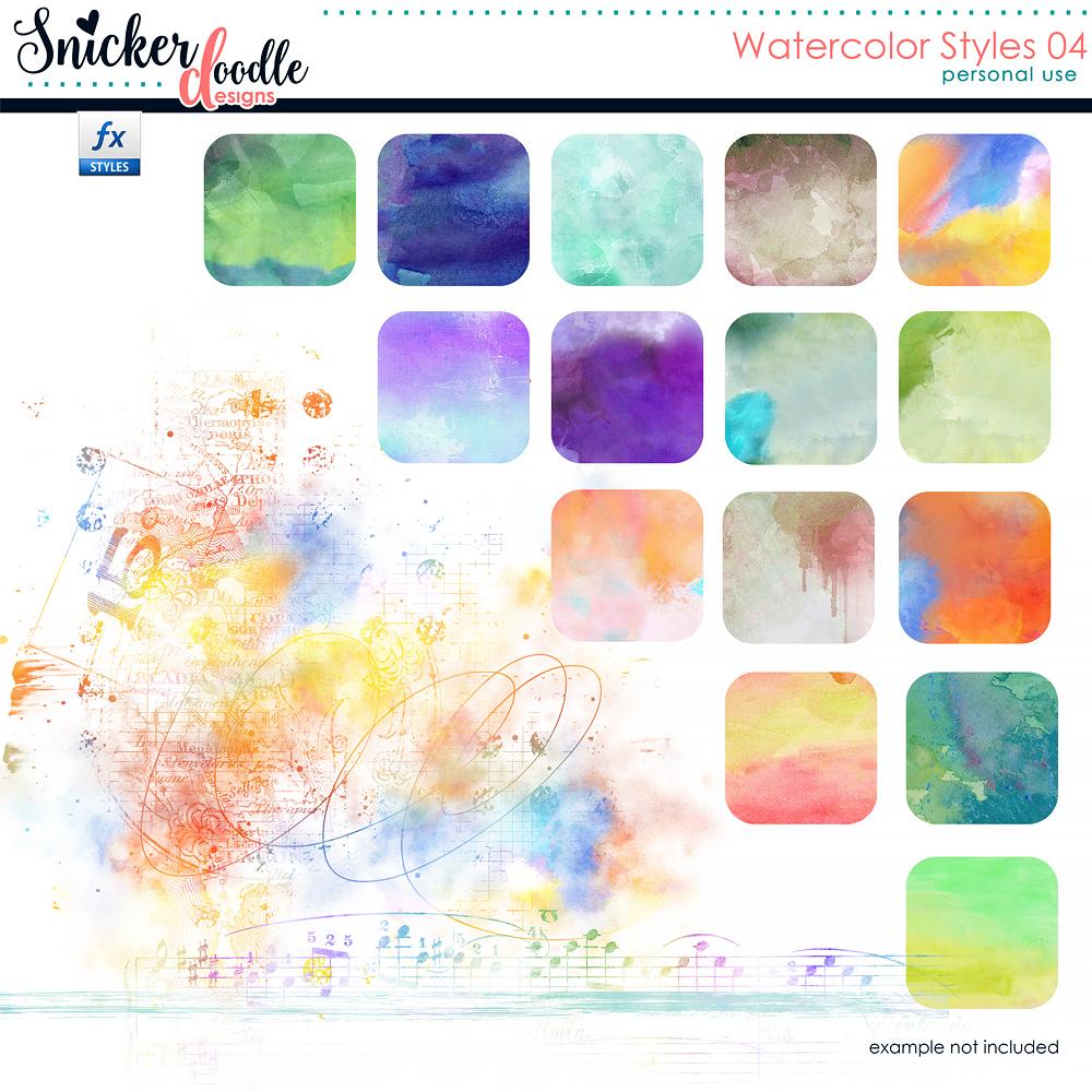 Snickerdoodle Designs Watercolor Styles