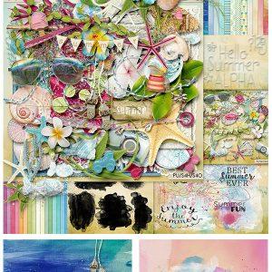 Palvinka Designs Digital Scrapbook Summer Deal