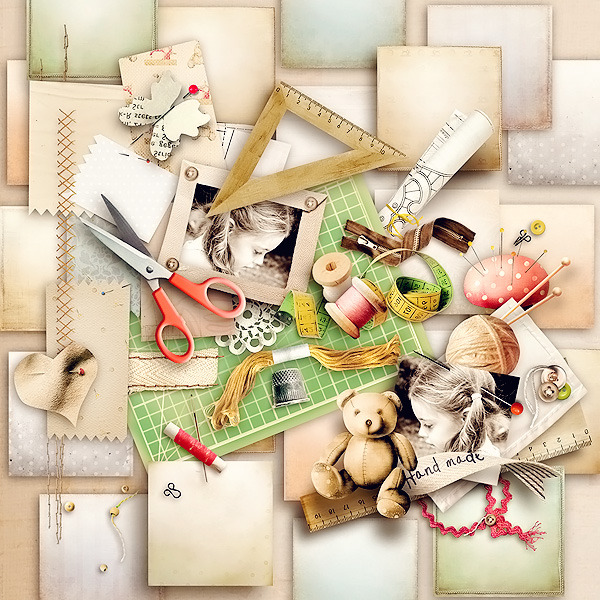 Digital scrapbook layout using Hand-made by emeto designs