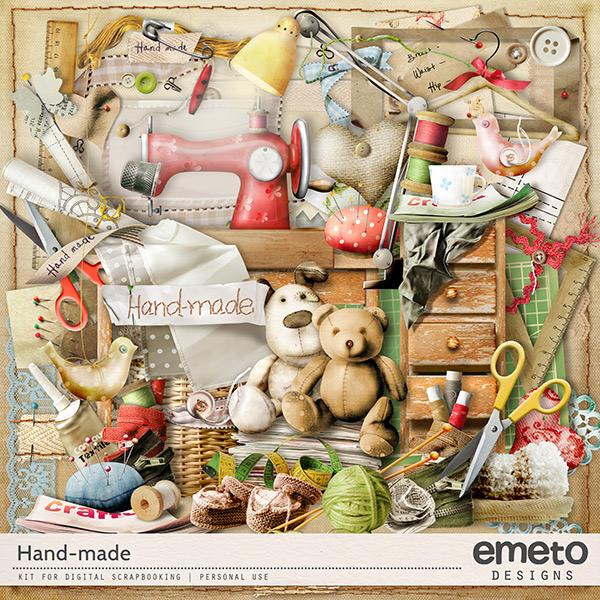 Hand-made Digital Scrapbook Kit by emeto designs