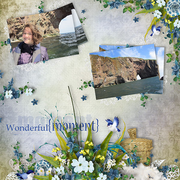 Digital scrapbook layout using My Passion For Sewing by Florju Designs