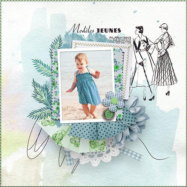 Digital scrapbook layout using Ma Jolie Robe by reginafalango