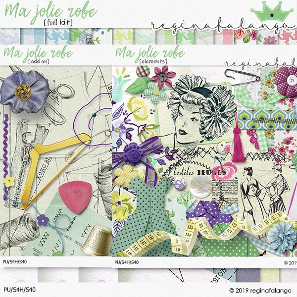 Ma Jolie Robe Digital Scrapbook Kit by reginafalango
