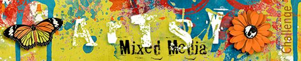 Oscraps October Challenge Artsy Mixed Media with scrapinmom